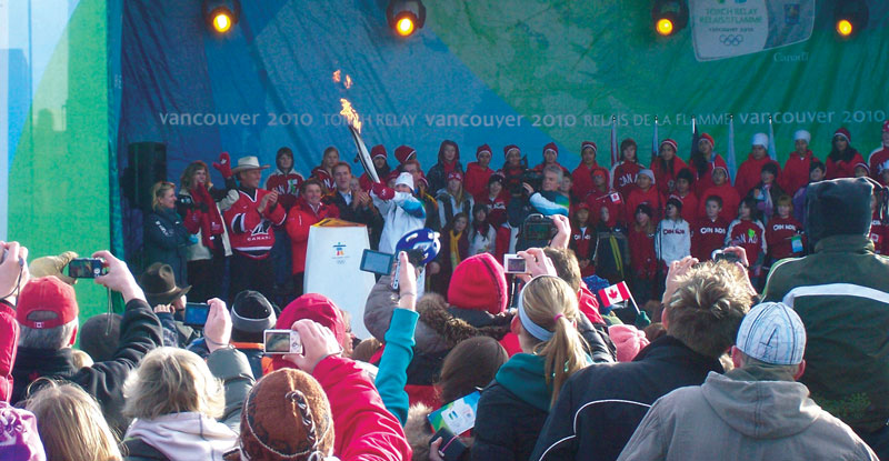 Vancouver Olympics torch relay