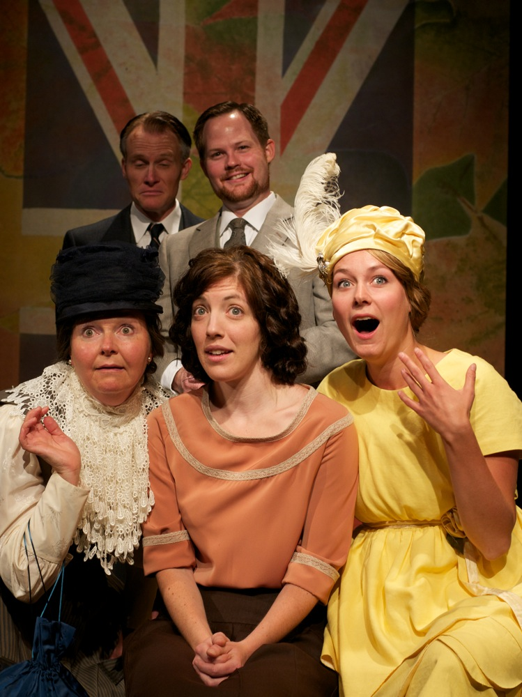 "Steve Waldschmidt, Karl Sine, Marie Russell, Heather Pattengale and Alysa van Haastert all delivered humorous performance in Rosebud Theatre's latest romatic comedy, ""Queen Milli of Galt."""
