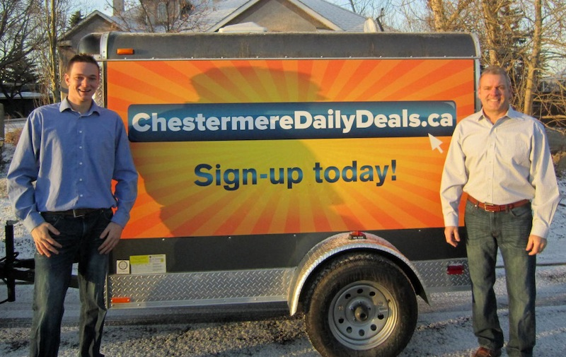 """Kyle and Chuck Wilson are the masterminds behind Chestermere's newest business, """"Chestermere Daily Deals."""""""