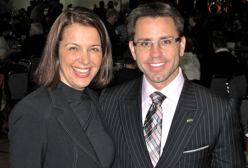 Wildrose leader Danielle Smith joins Bruce McAllister at his sold out fundraiser for the Chestermere – Rocky View riding.
