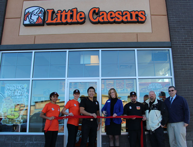 Little Caesars Pizza ribbon cutting