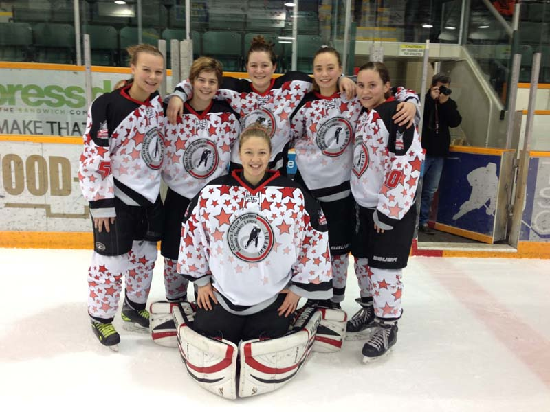 Alberta major midget female hockey league Dom like