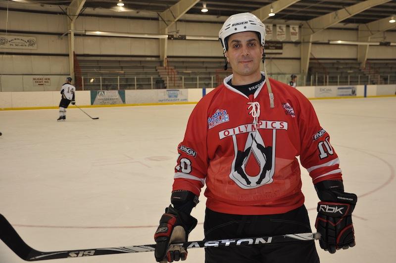 Alex Halat preparing for Hockey marathon in May