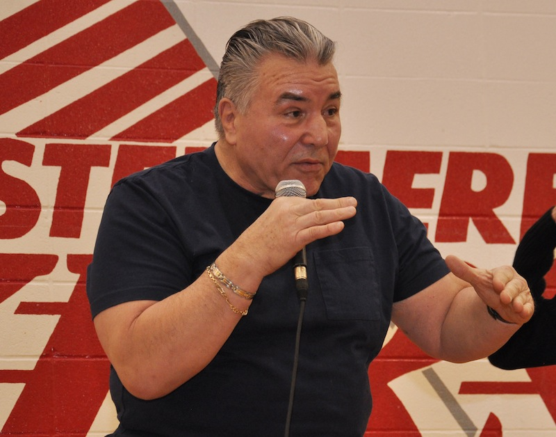Speaker George Chuvalo with message against drug abuse