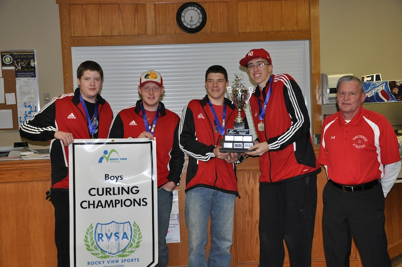 Chestermere High boys Rocky view curling champs