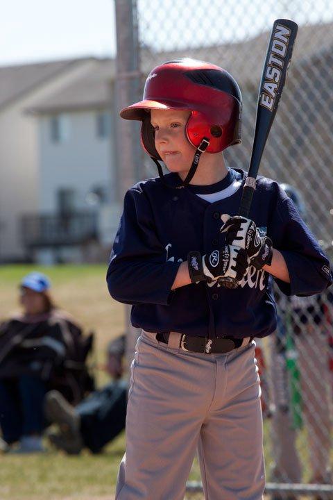 Crushers Baseball Little League player at bat