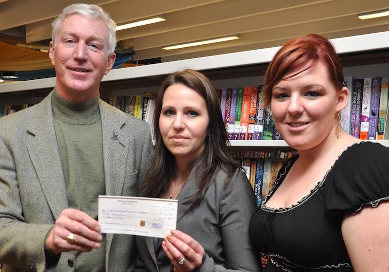 Ted Morton presents cheque to CPL