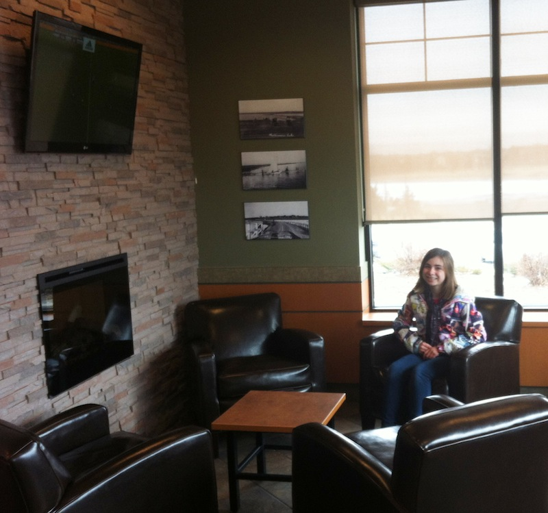 Updated lounge in Chestermere Tim Hortons