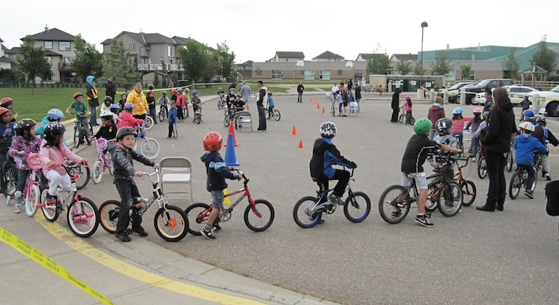 Chestermere's Bike Rodeo participants