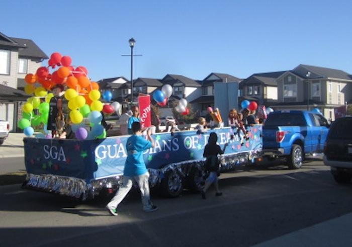 st gabriels parade float