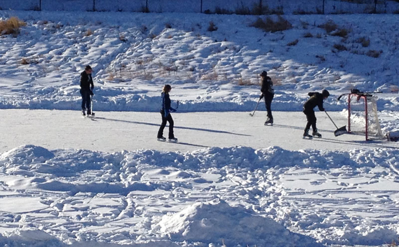 Rainbow Falls hockey rink
