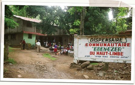 A community dispensary in Haiti