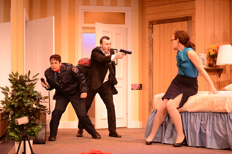 Stage west review of play unnecessary farce the for Farcical comedy plays