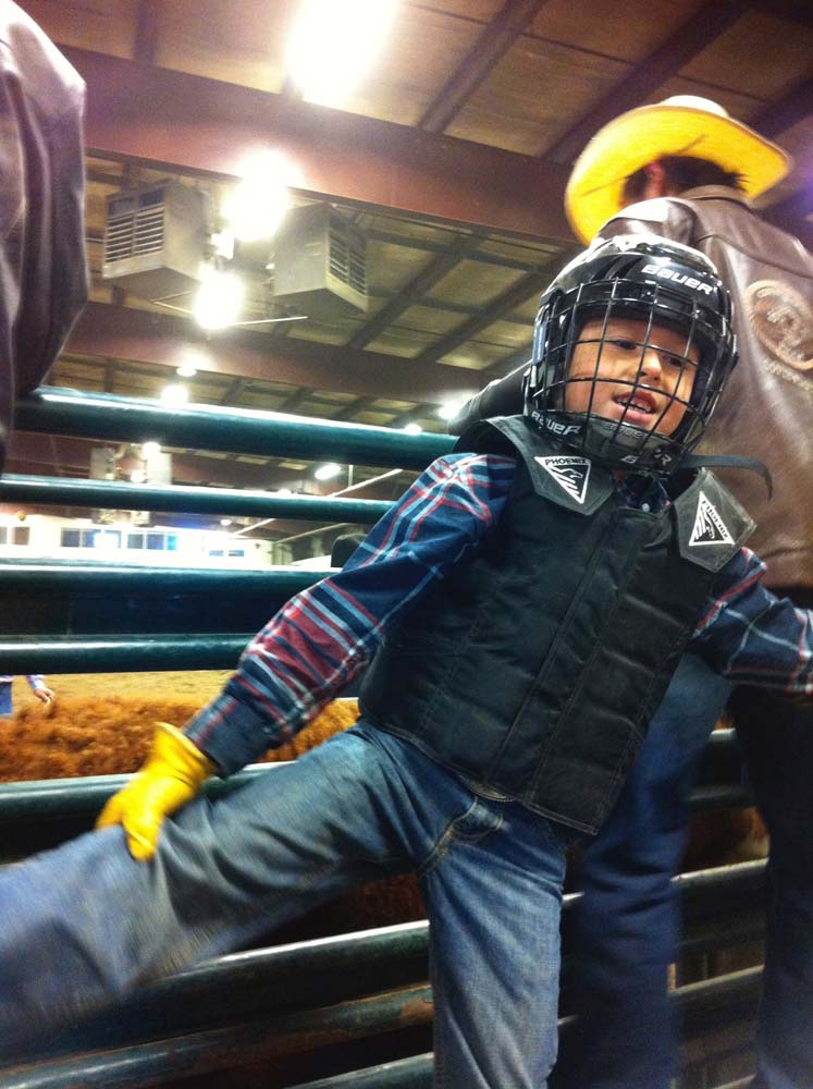 Chestermere Youth Training For Rodeo Steer Riding The