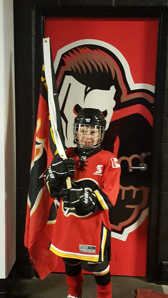 the latest a1c97 c6b00 Chestermere youth skates with Calgary Flames | The ...